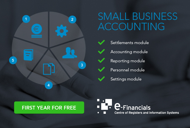e-Financials contains five parts (picture)
