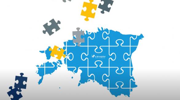 Uudist illustreeriv foto: puzzletükid, millest moodustub kokku Eesti kaart